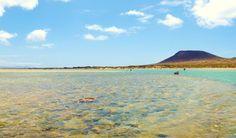El Salado Beach (Playa del Salado) is located on the island of La ...