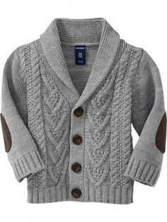 I so want a cute cardigan or sweater like this for Gabe 10 Fall Sweater For Baby Boys