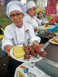 At the Mistura food fair in Lima, Peru, the wait can be an hour for the anticuchos, or grilled beef hearts, prepared by Grimanesa Vargas Araujo, a street vendor who has been plying her craft in the Miraflores district for more than 35 years.