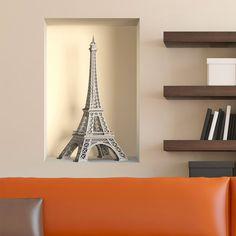 Vinilos Decorativos: Nicho Torre Eiffel simulado. #parís #ciudad #decoración #pared #TeleAdhesivo Tower, Shelves, Decor Ideas, Image, Home Decor, Tour Eiffel, Walls, Vinyls, Fabrics