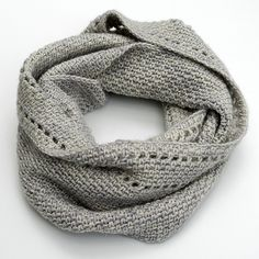 Beautiful texture against this calm neutral: Calm Cowl by redpepperquilts