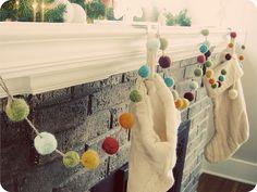My felted garland. Tutorial: http://www.purlbee.com/festive-felted-garland/
