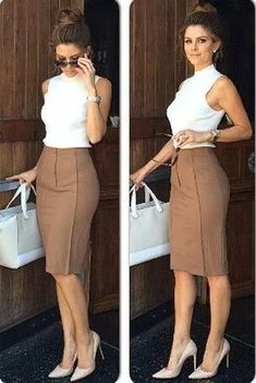 47 express high waisted seamed pencil skirt 35 ~ Litledress is part of Work outfits women - Classy Business Outfits, Casual Work Outfits, Work Attire, Mode Outfits, Work Casual, Classy Outfits, Chic Outfits, Fashion Outfits, Fashion Skirts