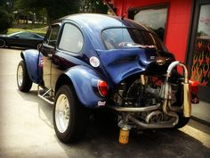 VW Baja Bug by Dave* Seven - One, via Flickr.   ( bad place for oil filter )