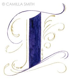 Hand-lettering alphabet: I by Artwork by Camilla Smith, via Flickr