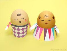 Easter Crafts for Kids | Egg People - Mr Printables