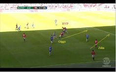 How United scored their 1st goal. 2nd part.