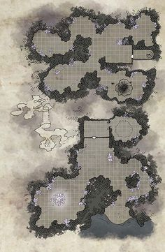 Dungeon, Cave, Underground Cave Map
