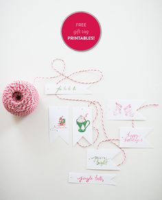#holiday, #christmas, #gift-tags, #printables, #gift-wrap  Photography: Jenny Moloney Photography - jennymoloney.com  Read More: http://www.stylemepretty.com/living/2013/12/23/how-to-wrap-a-perfect-present/