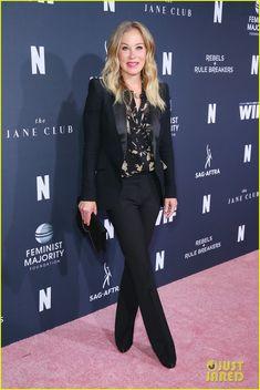 Mary J. Blige Joins Christina Applegate & Linda Cardellini at Netflix Rebels & Rule Breakers Panel Rock Chic, Grunge, Christina Applegate, Just Jared Jr, Rocker, Strike A Pose, Top Shoes, Rebel, Netflix
