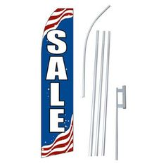 NeoPlex Patriotic Sale Swooper Flag and Flagpole Set