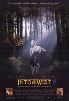 "Into the West (1992), a fantasy drama about two young traveller brothers Tayto and Ossie who run away on a quest to recover their stolen white horse Tír na nÓg and find the mystical land of eternal youth ""Tír na nÓg. Their father, once King of the Travellers, played by Gabriel Byrne, goes on a journey that takes him a poverty stricken north Dublin council estate to the West of Ireland."