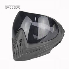 FMA Outdoor Sports Airsoft Tactical Eyewear Ski Hunting Safety Anti-fog Protective Goggle Full Face Mask with Black Lens FM-0022
