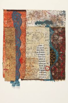 """Artist: Cas Holmes; Found Objects 2010 Collage """"Indian Journal"""""""