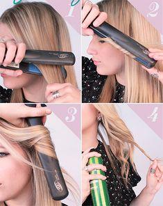 Cómo hacerte rizos con la plancha de cabello