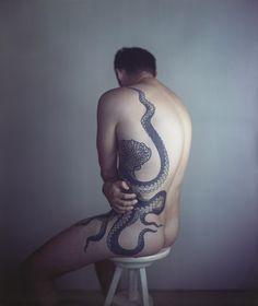 Man with Octopus Tattoo II, 2011 © Richard Learoyd, courtesy Fraenkel Gallery…