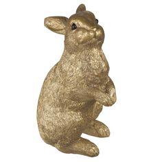 SHINNYTINE - Statuette lapin dorée H26