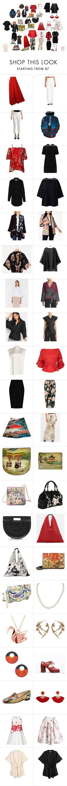 """Japan1"" by nadine-gubanowa on Polyvore featuring мода, Calvin Klein, WithChic, Chalou, Circle Park, Lands' End, Vince Camuto, Belldini, Lauren Manoogian и Robert Rodriguez"