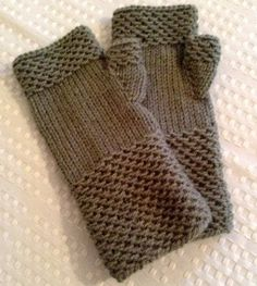 Made To Order: Gray Fingerless Gloves by HandKnittedbyLois on Etsy A customer favorite! Don't like gray? Pick a color and let me know- we do our best to accommodate requests