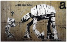 I Am Your Father Banksy Graffiti Spray Painting Stenciling