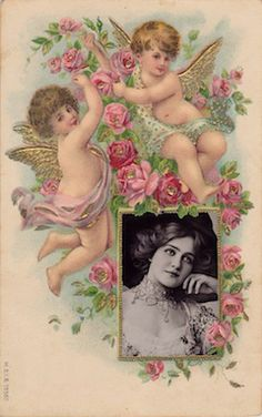 Wings of Whimsy: Lily Elise in Cherub Frame - free for personal use #vintage #ephemera #printable #freebie