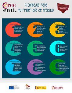 9 consejos para tu primer día de trabajo (infografía)