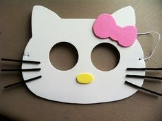 19 best dj alexis bday ideas 2014 images on pinterest for Hello kitty mask template