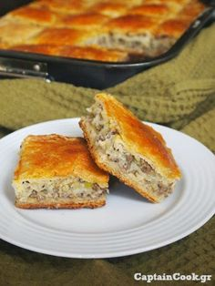 Captain Cook: Kimadopita with Leek and sheet yeast Greek Cooking, Cooking Time, Cooking Recipes, Greek Desserts, Greek Recipes, Food Network Recipes, Food Processor Recipes, Greek Pastries, The Kitchen Food Network