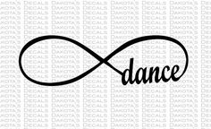Dance Infinity Loop SVG for Download by DakotasDecals on Etsy