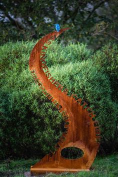 Bronze & Cor-Ten Steel #sculpture by #sculptor Simon Gudgeon titled: 'As…
