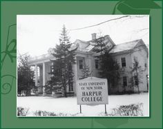 Colonial Hall, located in Endicott, is the original home of Harpur College. (1950)