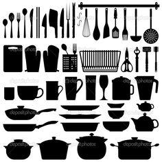 depositphotos_4559690-Kitchen-Utensils-Silhouette-Vector.jpg 1,024×1,024 pixels