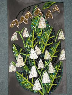 mosaic by Kat Gottke .. FLOWERS FOR KATE NO. 4