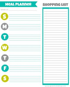 Printable Meal Planner and other Monthly Planner printables!