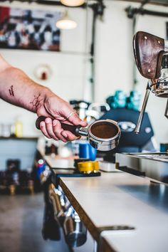 Slayer coffee machine and preparing espresso