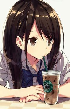 It's me when in coffe Cafe alone. Lol. #coffee #anime