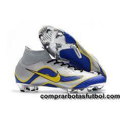 buy online fc8c1 7562e Baratas Botas De Futbol Nike Mercurial Superfly VI 360 Elite FG Plateado  Azul Amarillo