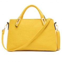 Fashion Style Crocodile Print and PU Leather Design Women's Shoulder Bag