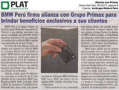 Inchcape Motors Perú: Alianza con Primax en el diario Del País de Perú (20/10/2017)