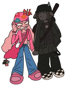 Cartoon Drawings, Cool Drawings, Cartoon Art, Character Art, Character Design, Grunge Art, Black Anime Characters, Funky Art, Pretty Art