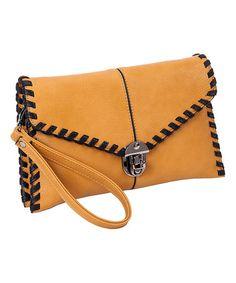 $49.99 Love this Camel Whip-Stitch Clutch on #zulily! #zulilyfinds