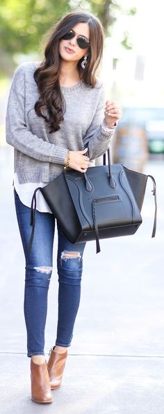 Black X Grey Fall Inspo by The Sweetest Thing