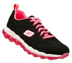 Buy SKECHERS Women's Skech-Air - Inspire Training Shoes only $80.00/ It's like walking on air with the SKECHERS Skech-Air - Inspire shoe. Skech-Knit Mesh fabric upper in a lace up athletic walking and training shoe with unique visible air cushioned outsole. Memory Foam insole.