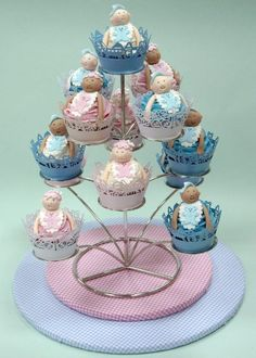 Baby Cupcakes by Knightsbridge PME School of Cake Decorating