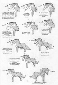 Unicorn origami tutorial | Xinblog