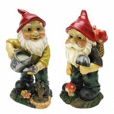 Gulliver and Mushroonie Garden Gnome Statues