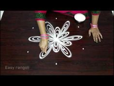 creative rangoli designs with 5x3 dots || kolam designs with dots || easy muggulu designs - YouTube