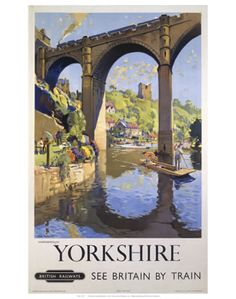 British Railways Travel Railway Poster Art Print, Yorkshire, England, See Britain by Train Posters Uk, Train Posters, Railway Posters, Vintage Travel Posters, Travel English, British Travel, European Travel, Poster Art, Print Poster