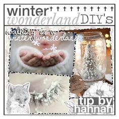 """WINTER WONDERLAND DIYS | #HANNAHSPINKTIPMAS"" by pinkcupcake14 on Polyvore featuring art, pinktips and hannahspinktipmas"