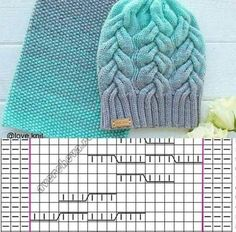 Crochet Kids Hats, Baby Hats Knitting, Knitted Hats, Cable Knitting Patterns, Knitting Stitches, Crochet Patterns, Diy Crafts Knitting, Diy Crafts Crochet, Crochet Hooded Scarf